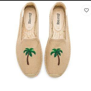 Brand new Soludos Palm Tree Smoking Slipper size 9
